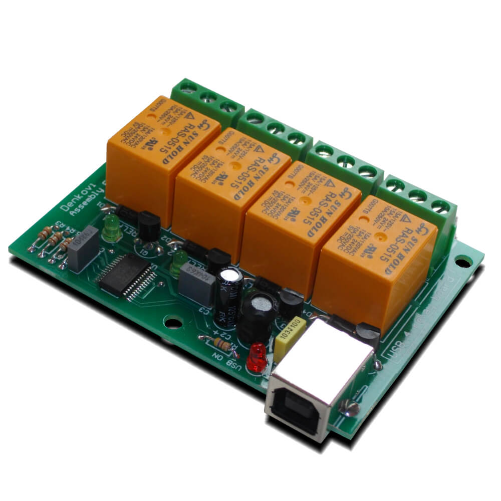 Denkovi USB Four Channel Relay Board