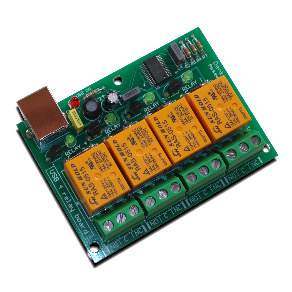 USB Four Channel Relay Board