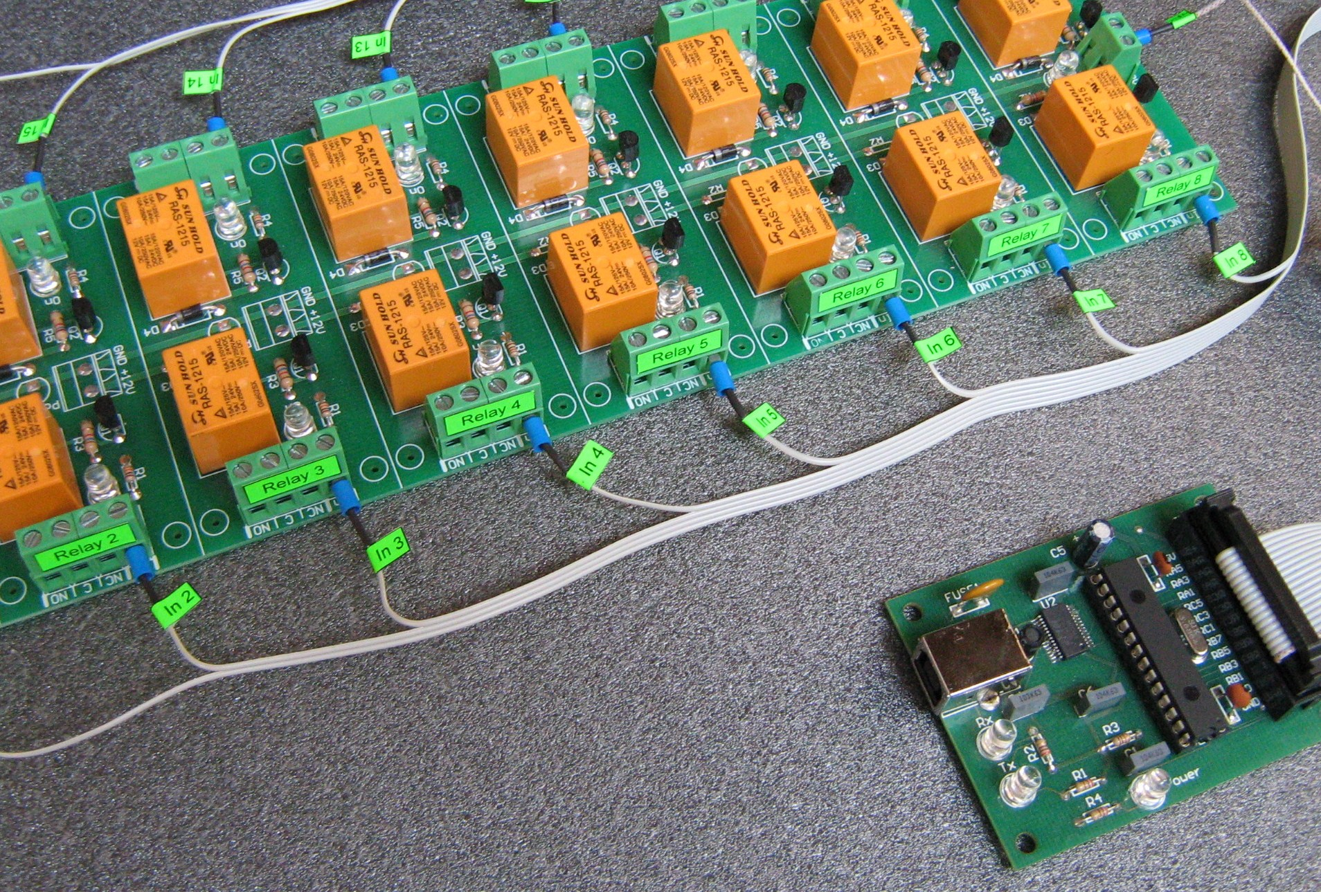 USB 16 Channel Relay  Board