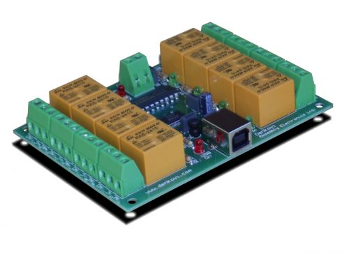USB Eight Channel Relay Board for Automation - 24V