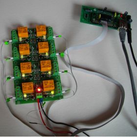 TCP/IP, Web and Telnet Eight Channel Relay Board