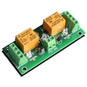 2 Relay Way Output Module (Board) for your PIC, AVR Project - 24V