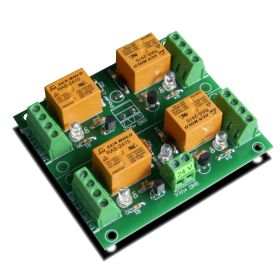 4 Relay Way Output Module (Board) for your PIC, AVR Project - 24V